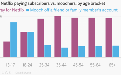 31% of Netflix viewers use family account